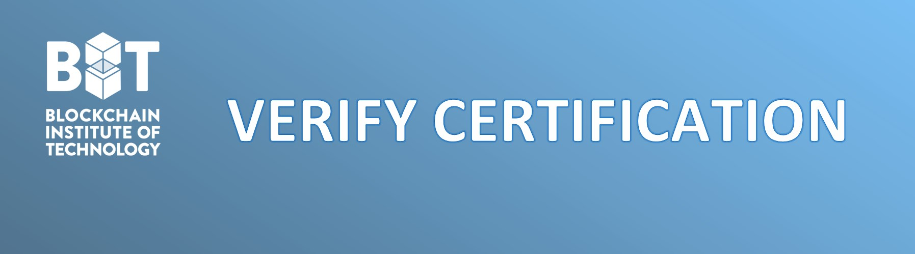 Verify BIT Certification